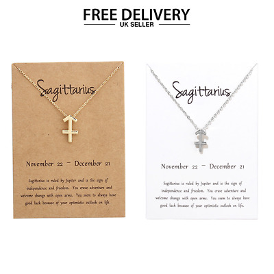 12 Constellation Zodiac Pendant Necklace Jewellery Hot Birthday Gifts UK Seller
