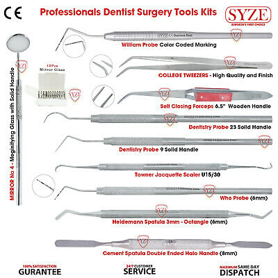 Professional Hygienist Tooth Scraper Scalers Periodontal Dental Instruments Set