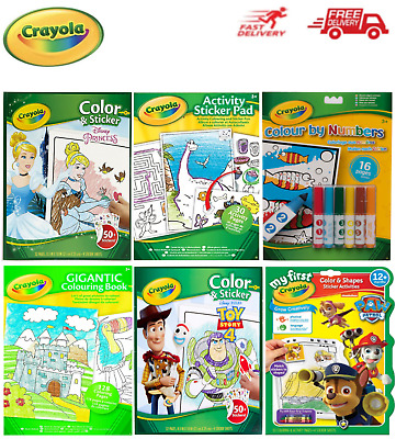 Crayola Colour Wonder, Colour Explosion, Colour and Sticker and Colouring Books