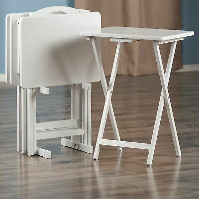 New White Tv Snack Food Folding Serving Tray Lip Table