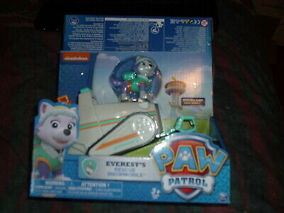 Paw Patrol Everest Rescue Snowmobile Vehicle and Figure New and Sealed