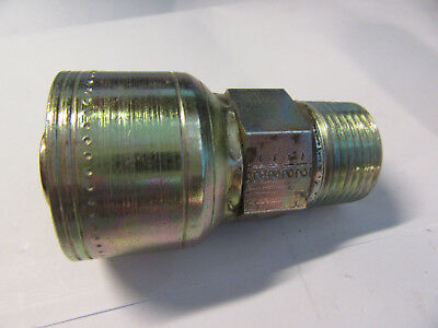2-EATON AEROQUIP Hydraulic Hose Fitting, Straight, 3/4, 1BA12MP12 F/S
