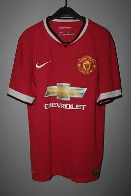 ab849e4c162 Manchester United 2014 2015 Nike Home Football Shirt Jersey Camiseta