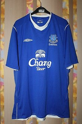 Everton Liverpool England 2004/2005 Home Football Shirt Jersey Maglia Umbro L