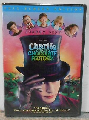 Charlie and the Chocolate Factory (DVD, 2005, Full Frame) BRAND NEW JOHNNY DEPP