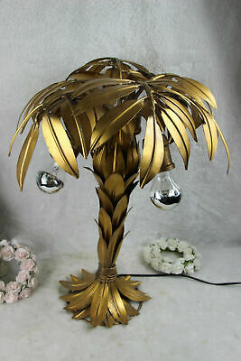 Mid century Hollywood regency Hans Kogl Palm Tree lamp metal gold gilt 1970