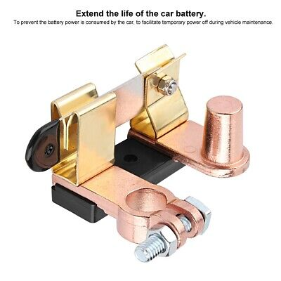 Brass Negative Battery Disconnect Cut Off Master Car Vertical Knife Switch