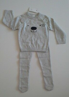Baby boys clothes knitted two piece set 9-12 months New