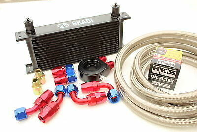 Performance 16 Row Oil Cooler Kit + HKS Filter for Nissan S13,S14,S15 SR20DET...