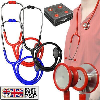 Deluxe Stainless Steel Dual Head Large Bell Cardiology High Accuracy Stethoscope
