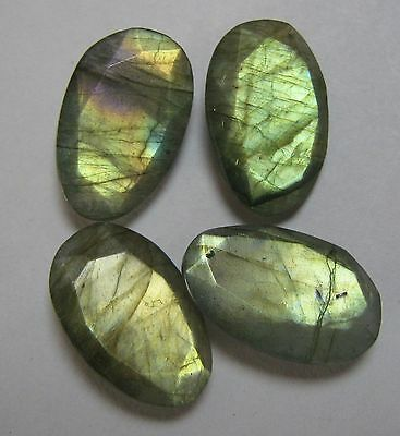 34.30 Cts Natural Labradorite Faceted 4 Piece Lot Fancy Loose Gemstone B 1385