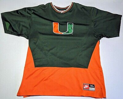 quality design bfefa 8d264 VTG NIKE MIAMI Hurricanes Basketball Team Warm Up Jersey Size XL 95-96  Season
