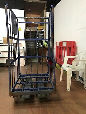 3 Sided Warehouse Roller Cage / Roll Pallet / Supermarket Trolley - Used