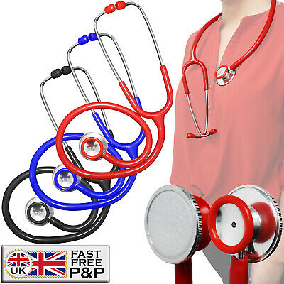 Dual Head PVC Protected Spring Adults Doctors Nurses Vets Medical Stethoscope