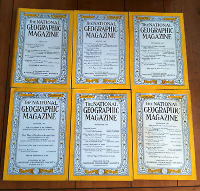 National Geographic Magazine Volume XCII #1-6 (July-December 1947)