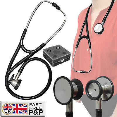 Large Cardiology Pro EMT Ultra Sensitive Doctors Nurses Dual Head Stethoscope