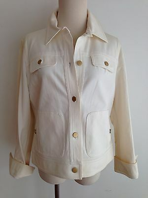 SFA Saks Fifth Avenue Sport Petites Jacket Off-White Size 12P