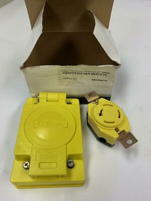 Leviton 67W09 20-Amp Wetguard with Cover, Yellow