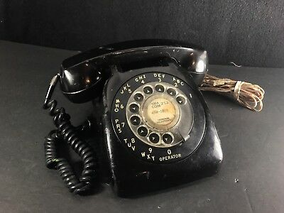 Vintage UNTESTED 1970s GTE Automatic Electric Rotary Phones Black Telephone