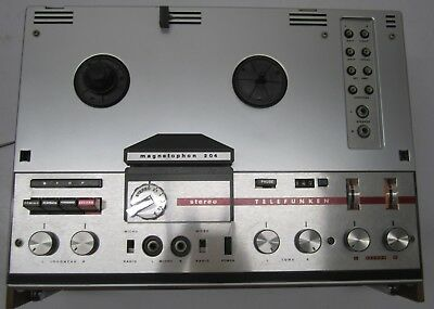 Vtg Telefunken Magnetophon Model 204U Reel to Reel Player Recorder As Is Repair