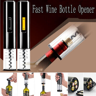 Electric Wine Bottle Opener Corkscrew Battery Operated Automatic Cork Remover