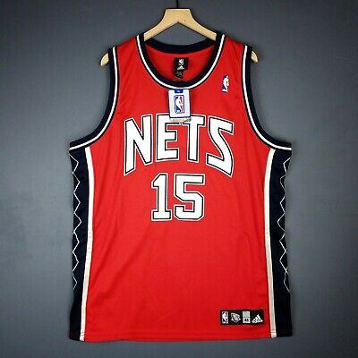 edef9e732 100% Authentic Vince Carter Adidas New Jersey Nets NBA Jersey Size 48 Mens