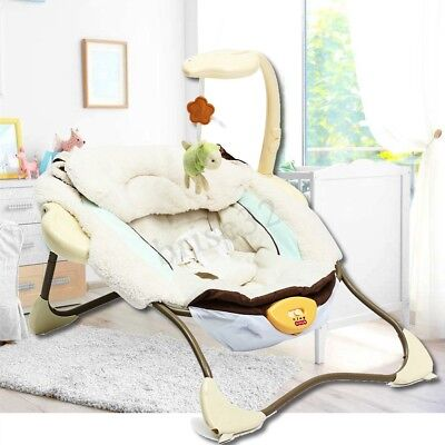 Infant Baby Bouncer Electric Sleeper Seat Reclining Vibration Chair Toys Music