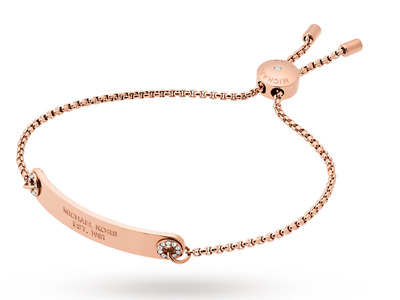 Michael Kors Womens Brilliance Rose Gold Adjule Bracelet