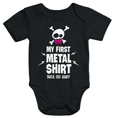 Kurzarm Baby Body My First Metal Shirt Hardrock Heavy Metal Bio-Baumwolle