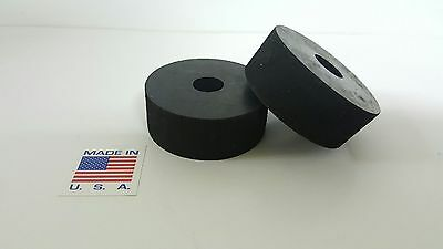 """Rubber Spacer Anti-vibration  3/4 THK X 2"""" OD X1/2 ID MADE IN THE USA 4 pack"""