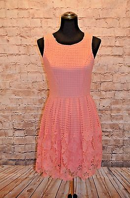 3318c4ce Modcloth Sway the Foundation Dress NWOT L coral Crochet Lace Soieblu