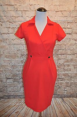 a9d14899 Modcloth Sophisticated Situation Dress NWOT RED L Sheath professional  collared
