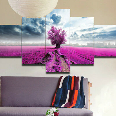 Unframed 5Pcs Modern Art Oil Painting Print Canvas Picture Home Wall Room Decor