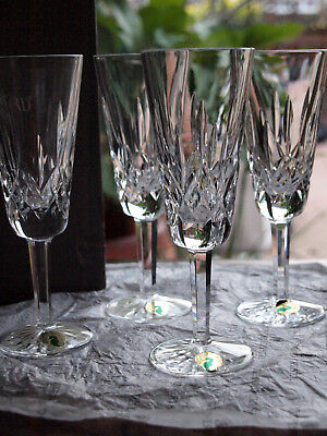Waterford Crystal Lismore Champagne Fluted Glass Set of 4 Brand New