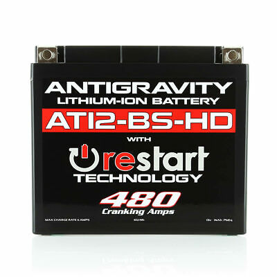 Antigravity AT12BS-HD-RS High-Power Lithium RE-START Battery: Replace OEM YT12BS