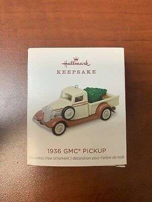 "2018 Hallmark Keepsake Mini 1936 GMC Pickup Ornament 0.9"" Limited Edition *READ*"