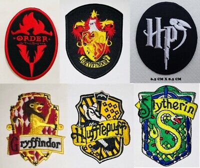 Harry Potter House Gryffindor Slytherin Hufflepuff Embroidered Patches Motif New