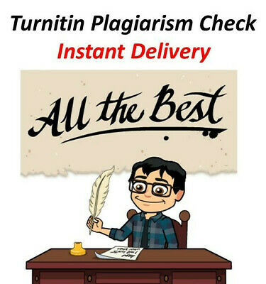 Turnitin Plargarism check instant delivery.