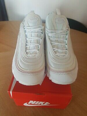 4654be4560a8 Nike Air Max 97 s Tuned 1 TN Size 7 White Rose Gold