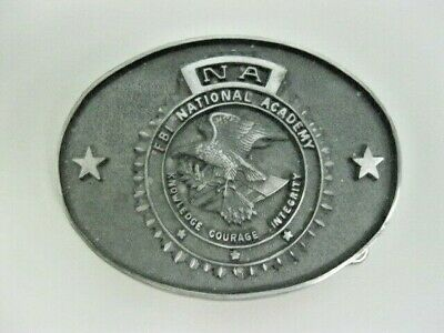 Vintage FBI National Academy Metal Belt Buckle