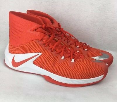 buy popular 55ee3 f82a4 Nike Zoom Clear Out TB Men s Basketball Shoes Size 17 844372-888  Orange White