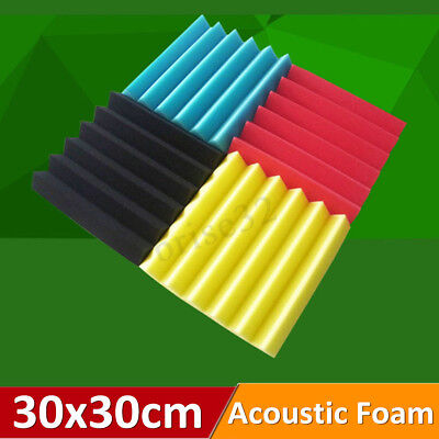 "1X Pack Acoustic Foam Panel Wedge Studio Soundproofing Wall Tiles 12"" X 12"" X 2"""