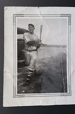 1930's Baseball Photo Pitcher Dizzy Dean at Bat or Who? Fair to Good Condition!