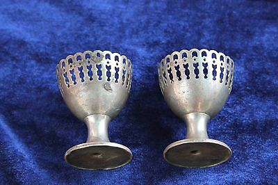 Old Vintage Antique pair german silver Candle Stand/Collectible decorative india