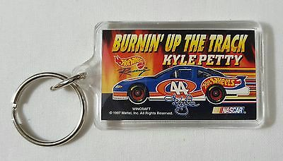 Petty Racing 50th Anniversary Leather And Pewter Key Ring Chain Fob 1999 Racing-nascar