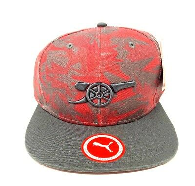 9546535069cb41 Arsenal Snapback Cap Puma Camo Red Fun Fan Gift New Official Licensed  Product