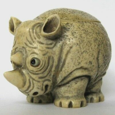 Ricky - Pot Bellys - NIB - Zoo Rhino Figurine - MPS Harmony Kingdom - RARE