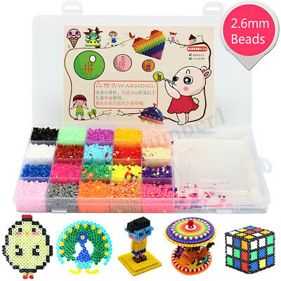 2.6 mm fusibile Perler Hama Beads Refill Pack 3 tavole forate Stater Kit bambini