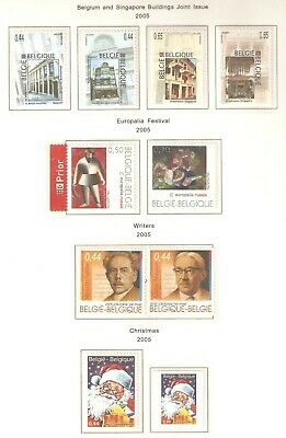 Belgium, Nice selection of stamps issued in 2005 (e2) in MNH condition