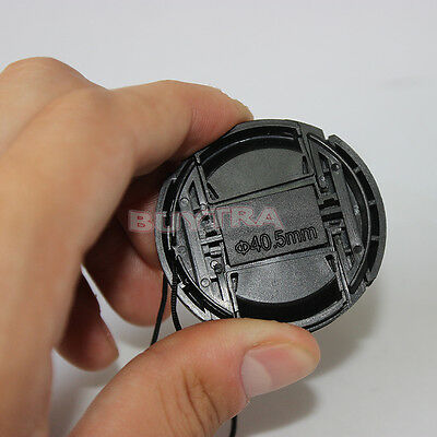 EF 40.5mm Center Pinch Snap on Front Cap For Sony Canon Lens Filters Plastic YBF